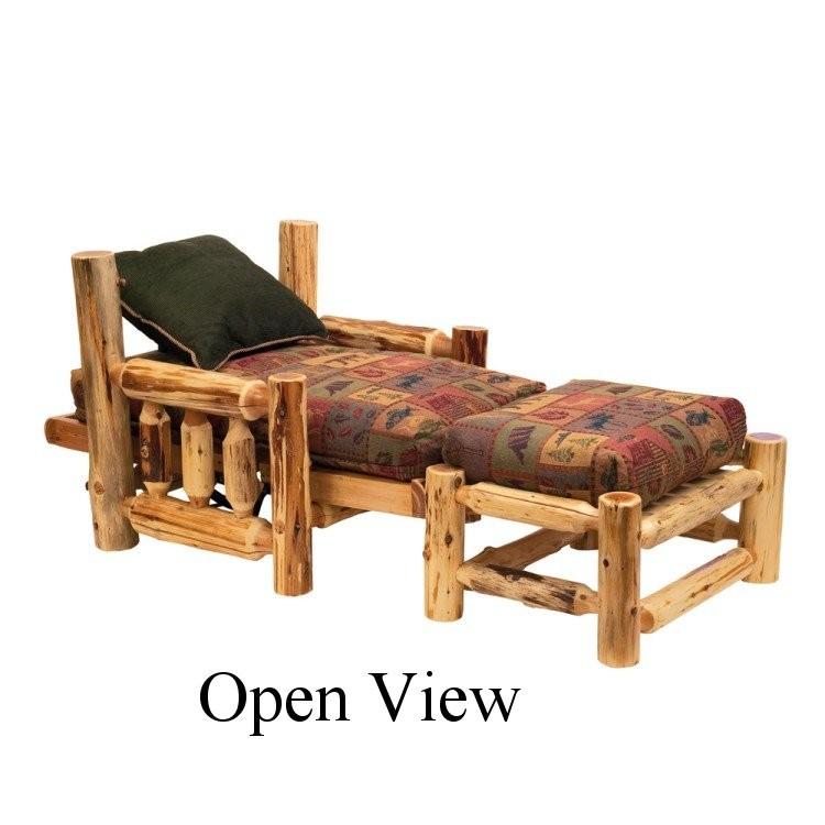 Amazing Log Futon Chair With Ottoman Dailytribune Chair Design For Home Dailytribuneorg