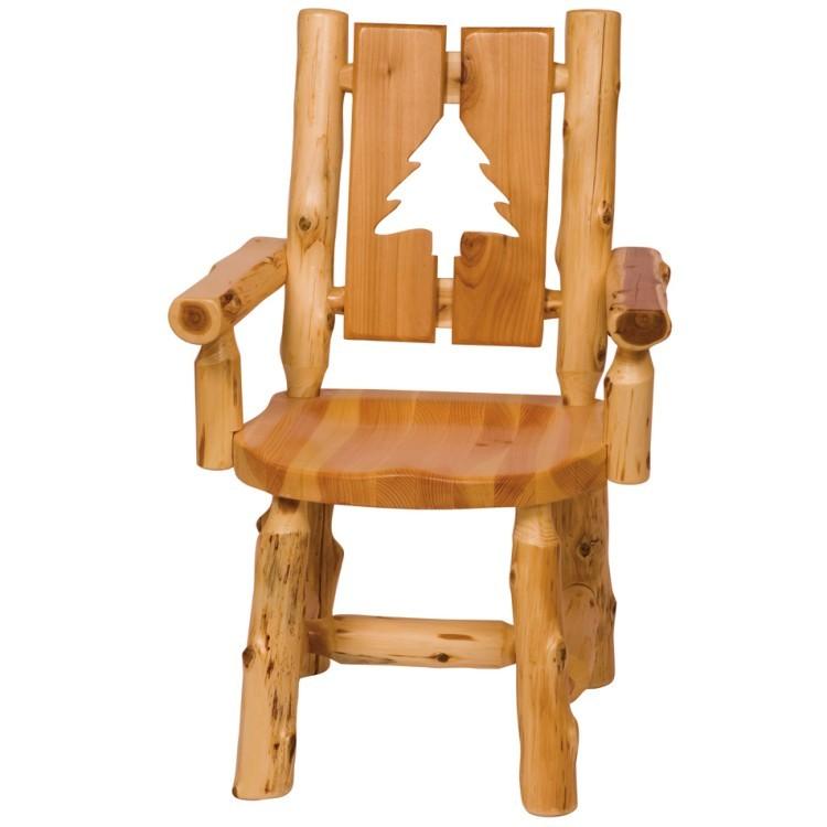 Wildlife Log Cutout Arm Chair