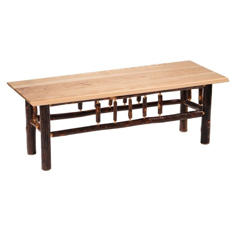Hickory Log Bench