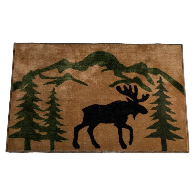 Mountain Moose Kitchen And Bath Rug