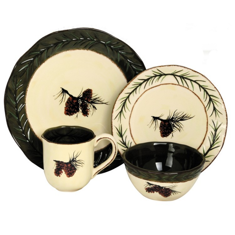 sc 1 st  The Cabin Shop & Pine Cone Dinnerware and Serving Pieces