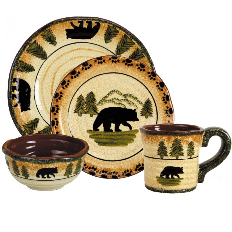 sc 1 st  The Cabin Shop & Black Bear Dinnerware