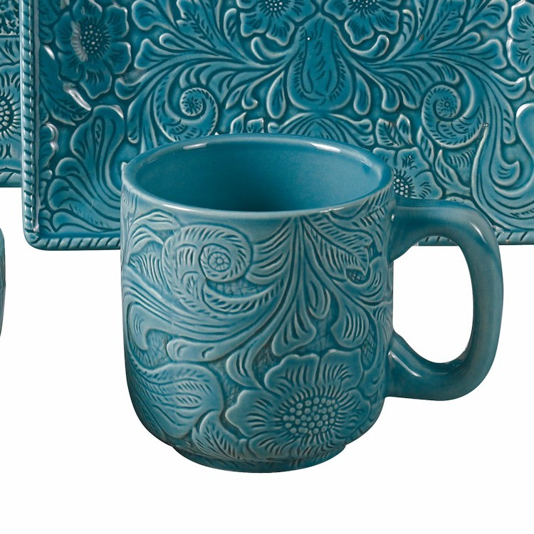 sc 1 st  The Cabin Shop & Savannah Dinnerware Set-Turquoise
