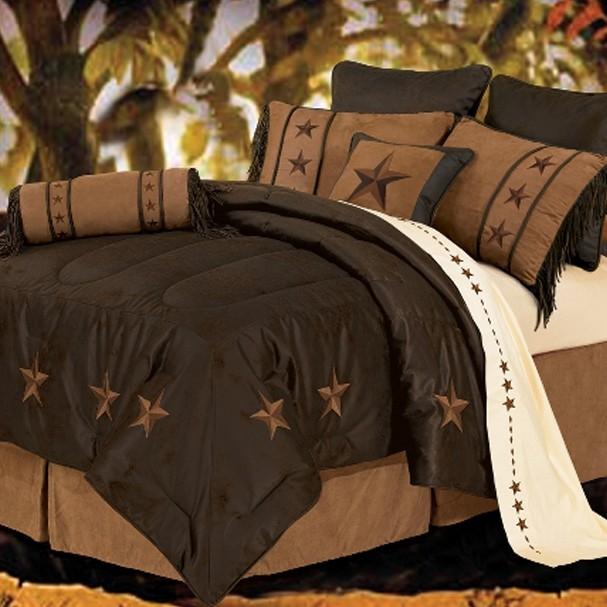 laredo western star bedding chocolate