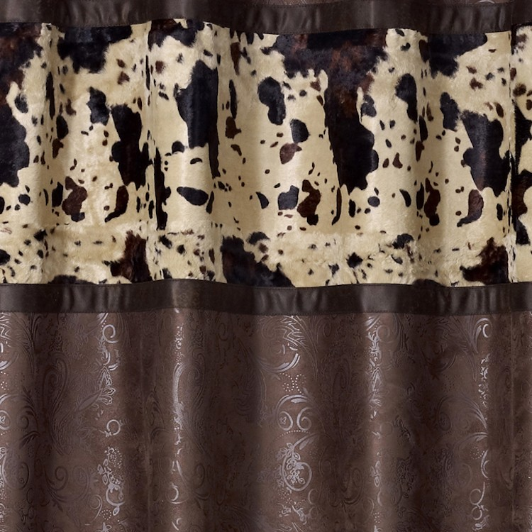 Caldwell Cowhide Shower Curtain