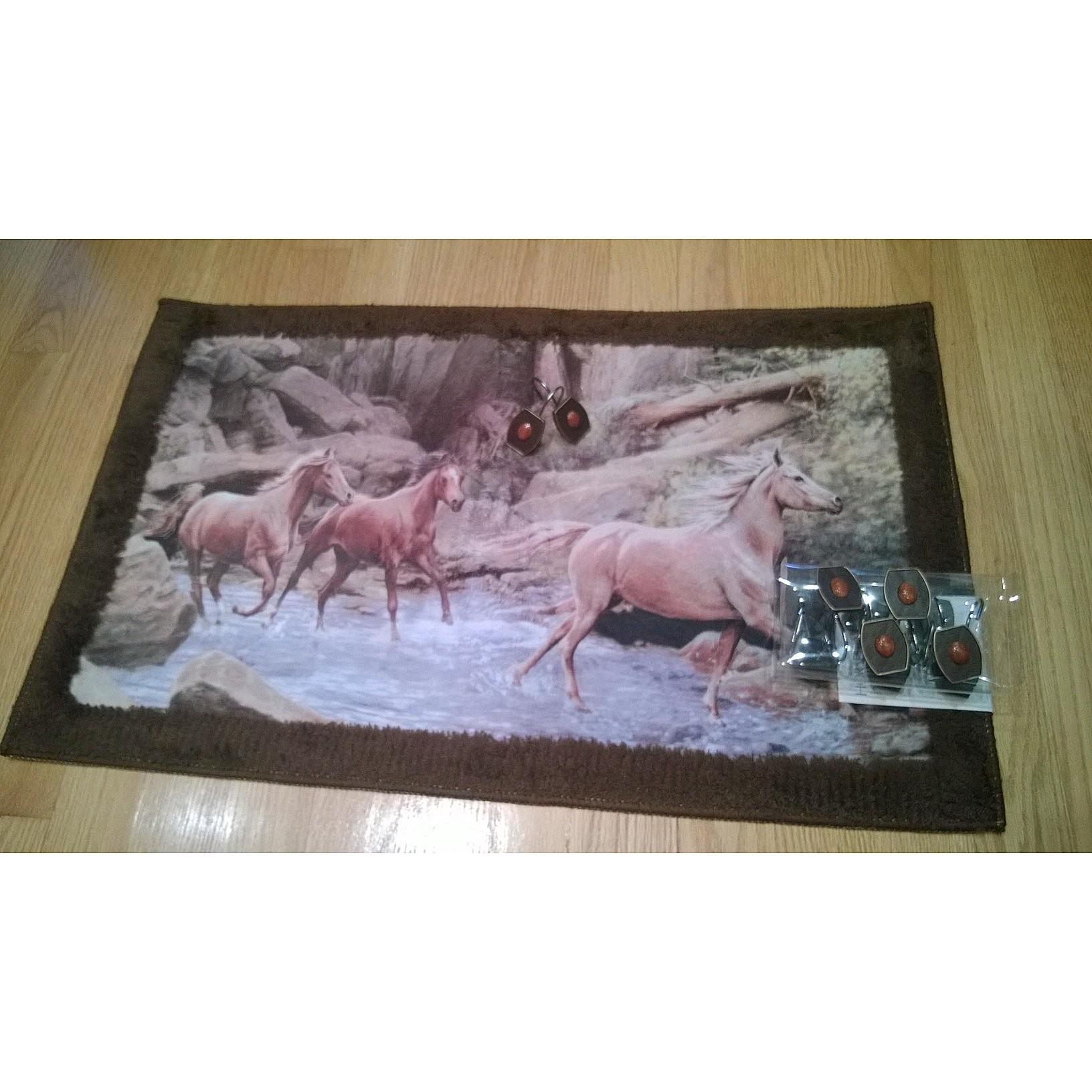 Wild Horses Running Free Soft Memory Foam Rug
