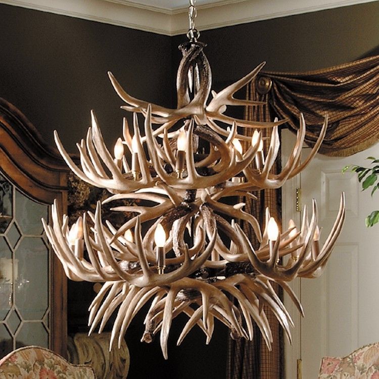 The alleghany faux whitetail deer antler chandelier aloadofball Image collections