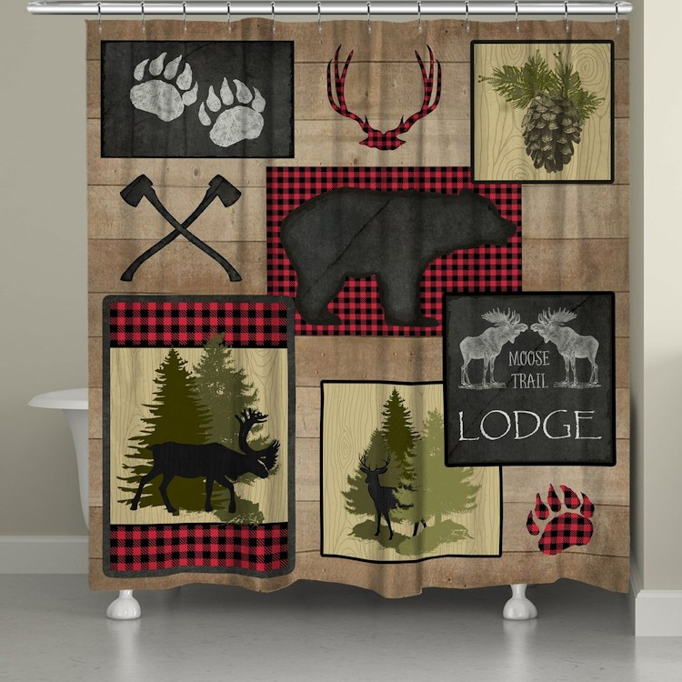 Lumberjack Plaid Shower Curtain