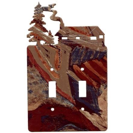 Log Cabin Switch Plates