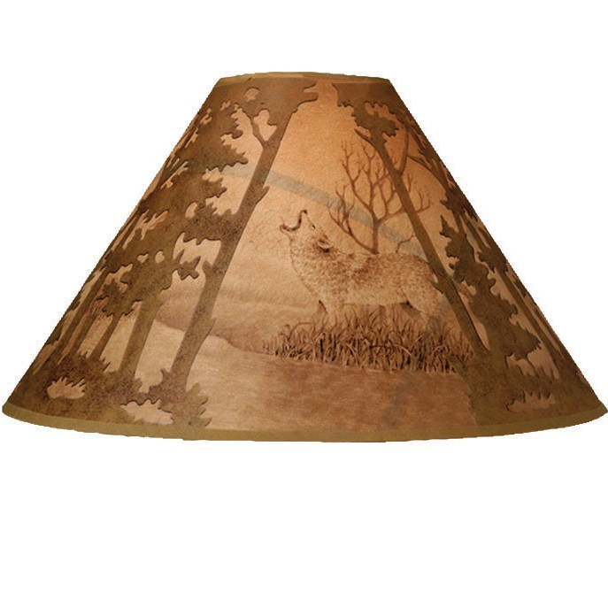 Scenic wolf lamp shade more views scenic wolf lamp shade discontinued aloadofball Choice Image