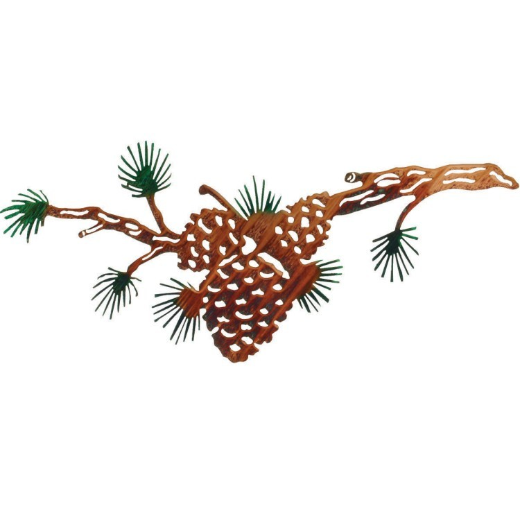 Pine Cone Bough Metal Wall Art