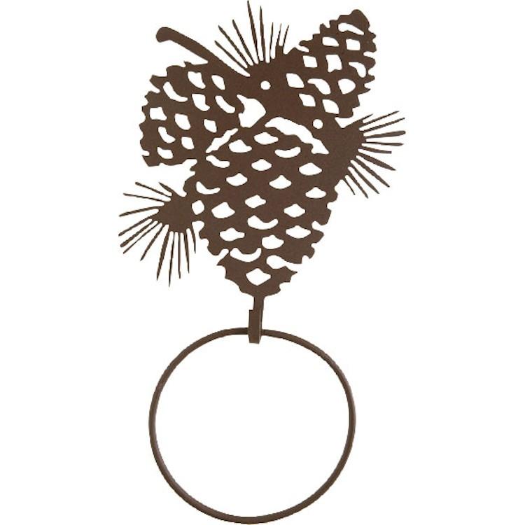 Pine Cone Towel Ring