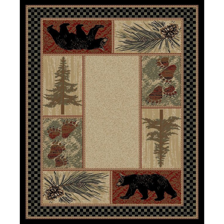 Big Timber Bear Area Rugs