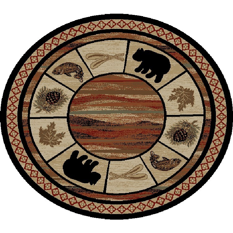 Vogel Bear Round Area Rugs