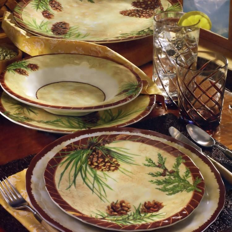 & Pine Ridge Melamine Dinnerware
