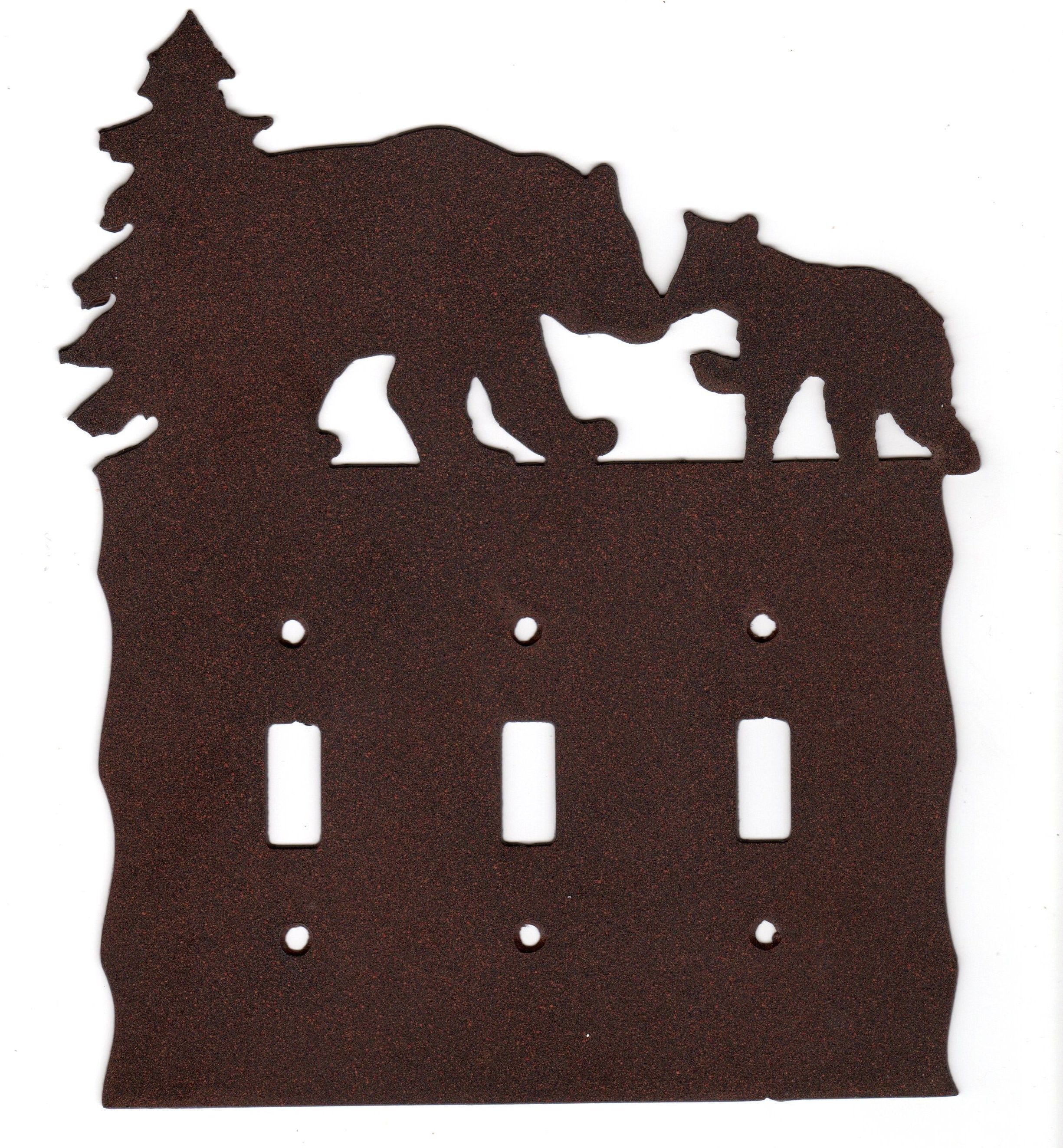 Rustic Bear Walk Collection Switch Plates