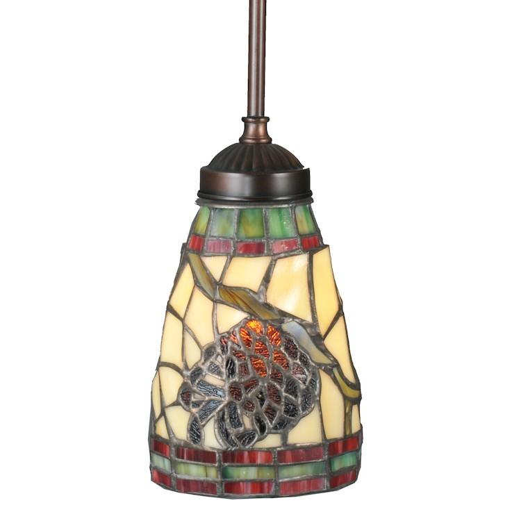 Stained glass pinecone pendant light aloadofball Gallery