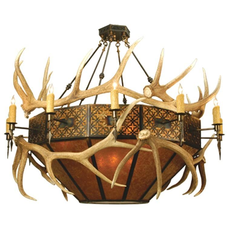 Elk antler inverted pendant light aloadofball Gallery