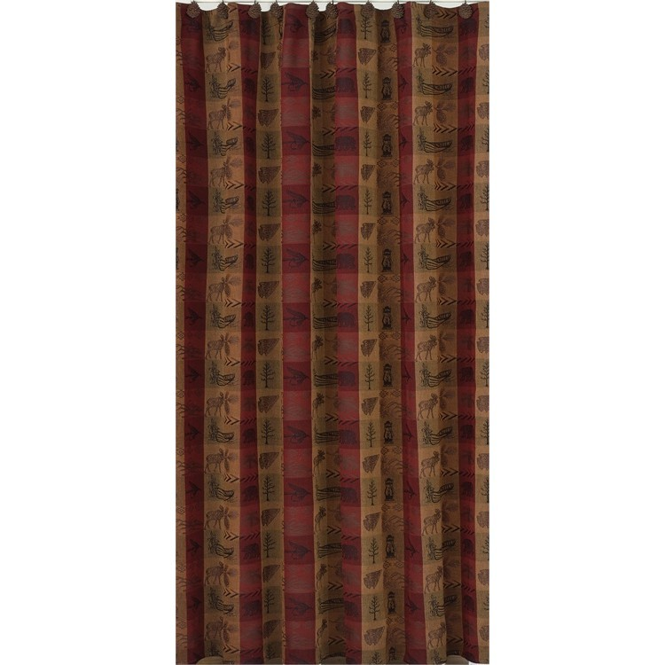 High country woods shower curtain for Bathroom decor high road