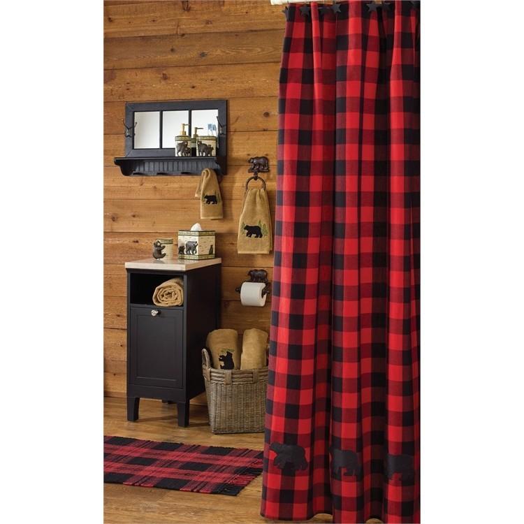 Buffalo Bear Check Shower Curtain