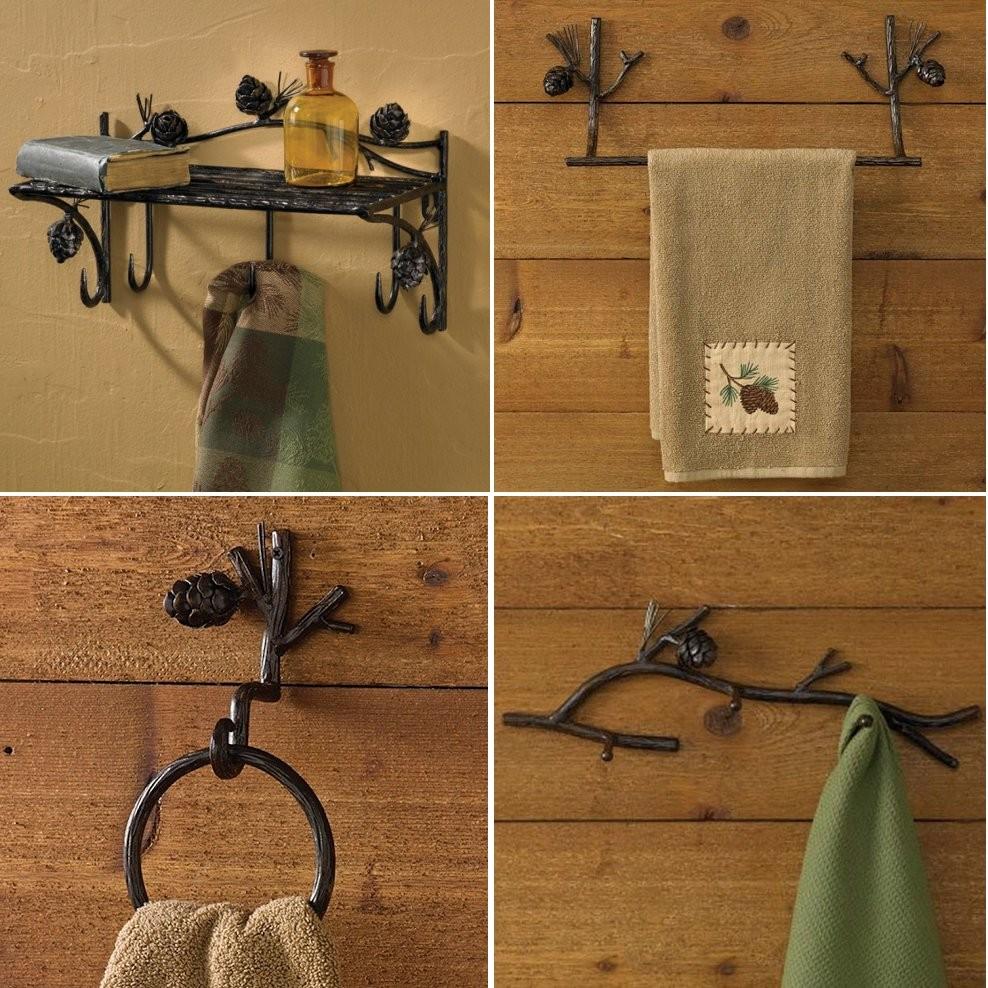 Pinecone Lodge Towel Bars And Bath Accessories