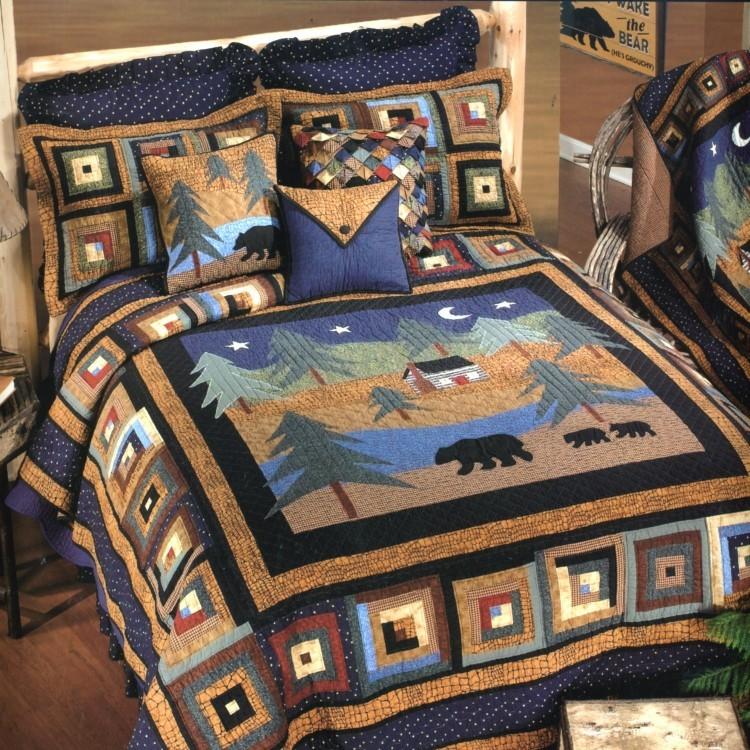 Midnight Bear King Bed Set