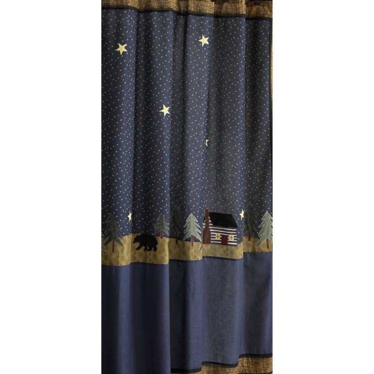 Midnight Bear Shower Curtain