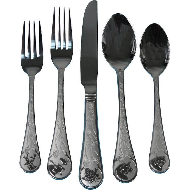 Wildlife 20 piece flatware set for Decor 8 piece lunch set