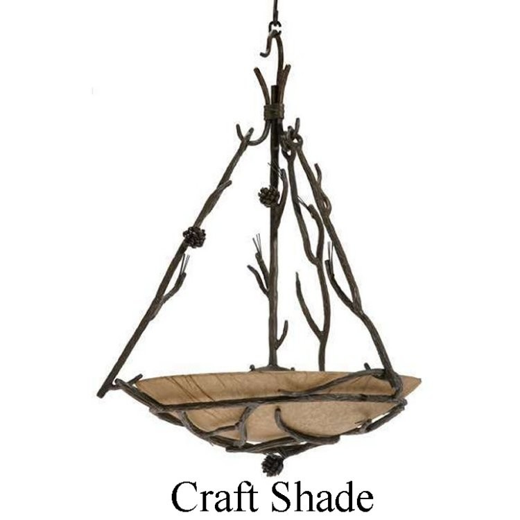 Pine Globe Chandelier