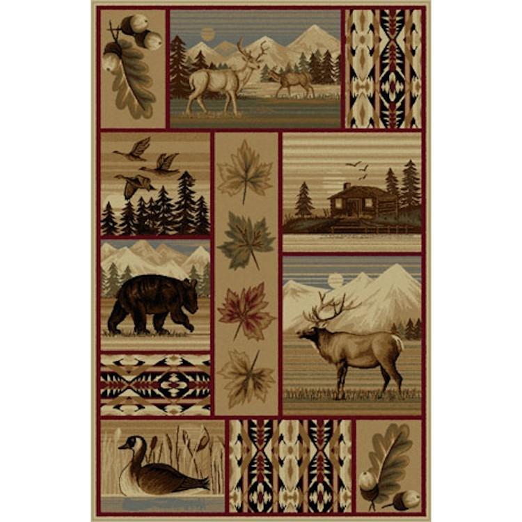 Yellowstone Wildlife Area Rugs
