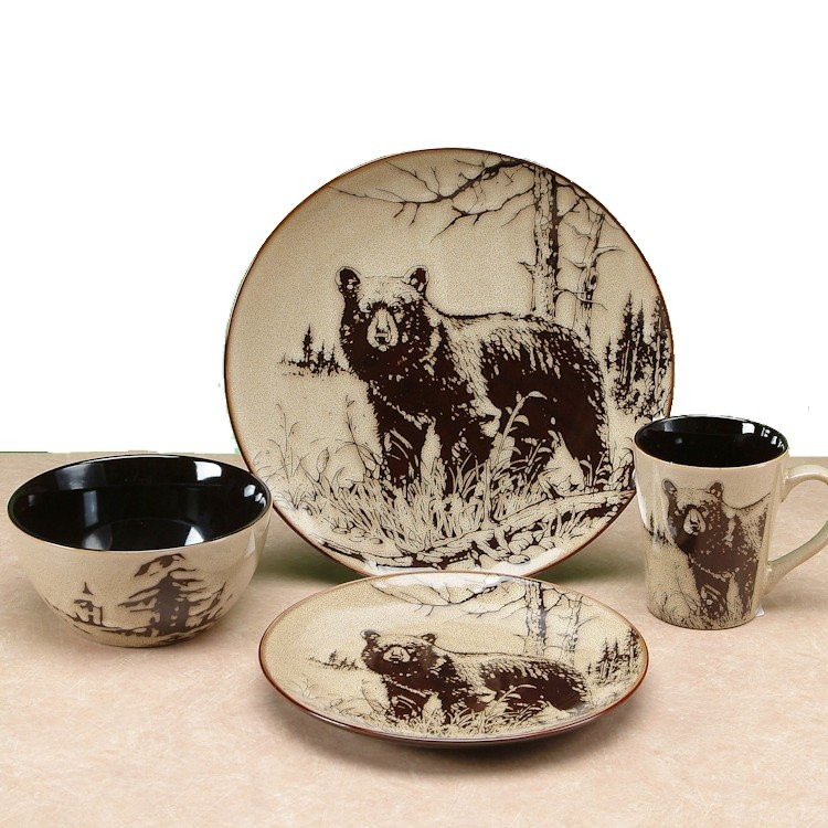 sc 1 st  The Cabin Shop & Bear Walk Dinnerware