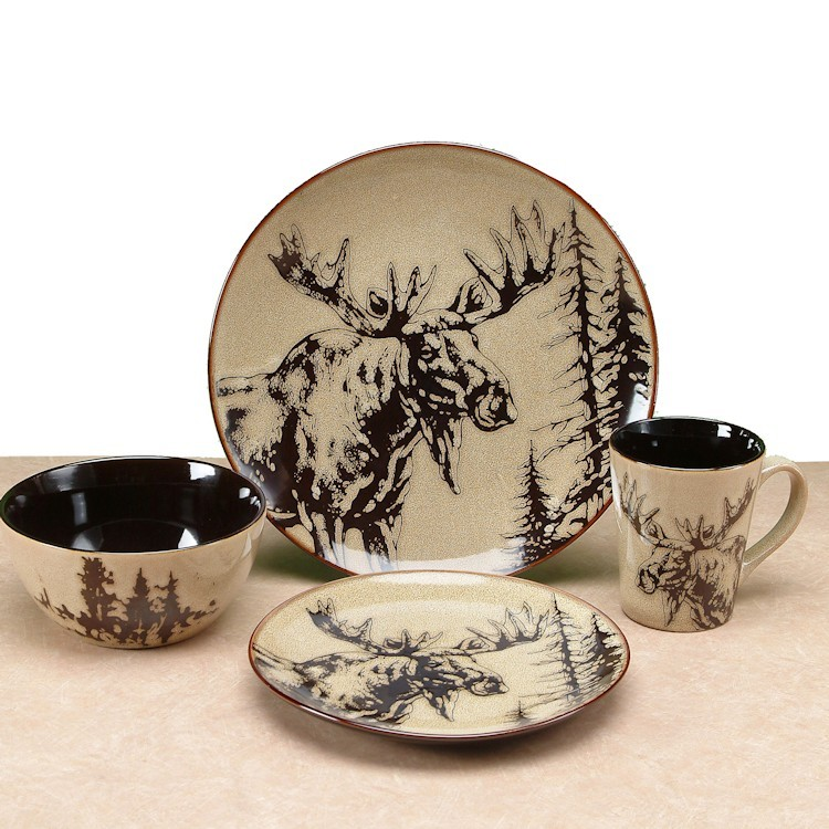 Majestic Moose Dinnerware-DISCONTINUED  sc 1 st  The Cabin Shop & Majestic Moose Dinnerware