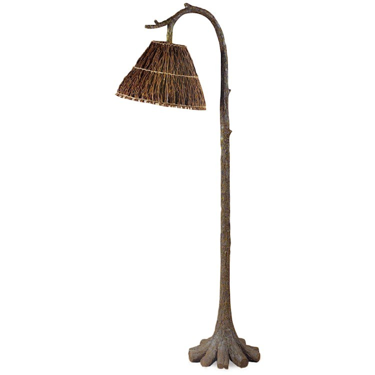 Tree trunk floor lamp for Antique floor lamp manufacturers