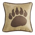 Bear Paw Print Pillow
