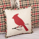 "Hollis Cardinal Pillow 12"" x 12"""