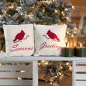 Seasons Greeting Pillow Set of 2 10 x 10