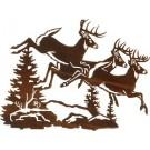 Catch the Wind Deer Metal Art -DISCONTINUED