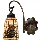 Pine Cone Art Glass Wall Sconce