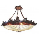 Acorn & Oak Leaf Inverted Pendant Light