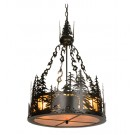 Black Bear At Dusk Chandelier