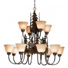 Yellowstone Moose 12 Light Chandelier