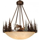 Yellowstone Inverted Moose Pendant Light