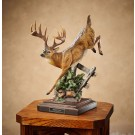 Bound for Cover – Whitetail Deer Sculpture