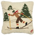 Cross Country Winter Skier Pillow