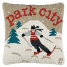 Park City Skier Pillow