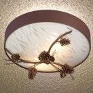 Pine Cone and Needles Ceiling Light