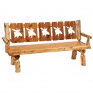 5 Panel Log Bench with Wildlife Cutouts