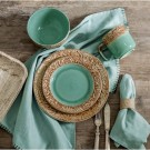 16 Piece Turquoise Dinnerware Set