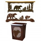 Bear Towel Bars and Bath Accessories