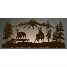 "57"" Deer Family Back Lit Wall Ar"